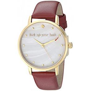Horlogeband Kate Spade New York KSW1209 Leder Bordeaux