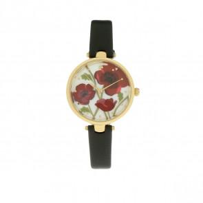 Horlogeband Kate Spade New York KSW1367 Leder Zwart 12mm