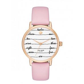 Horlogeband Kate Spade New York KSW1239 Leder Roze