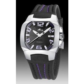 Horlogeband Lotus 15507-4 Leder Zwart 18mm