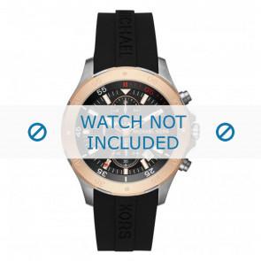 Michael Kors horlogeband MK8568  Silicoon Zwart 22mm