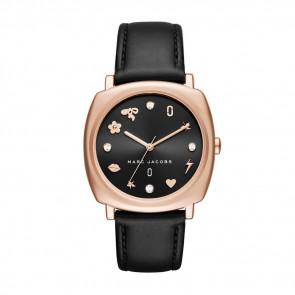 Horlogeband Marc by Marc Jacobs MJ1565 Leder Zwart 18mm