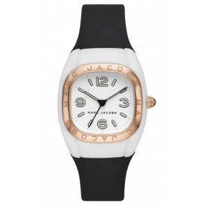 Horlogeband Marc by Marc Jacobs MJ1650 Silicoon Zwart