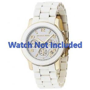 Horlogeband Michael Kors MK5145 Staal Wit 20mm
