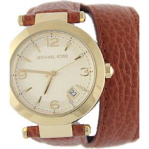 Horlogeband Michael Kors MK2295 Onderliggend Leder Bruin 21mm