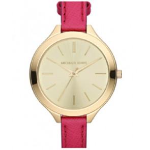 Horlogeband Michael Kors MK2298 Leder Roze 12mm