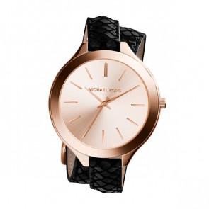 Horlogeband Michael Kors MK2322 Leder Zwart 12mm