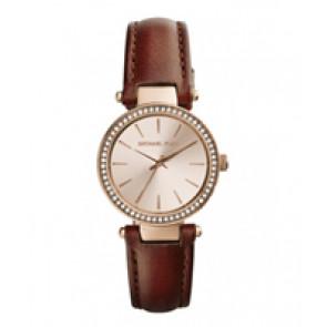 Horlogeband Michael Kors MK2353 Leder Bruin 15mm