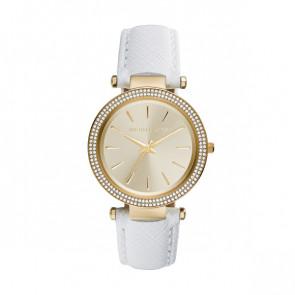 Horlogeband Michael Kors MK2391 Leder Wit 21mm