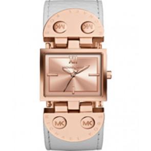Horlogeband Michael Kors MK2396 Leder Wit 26mm