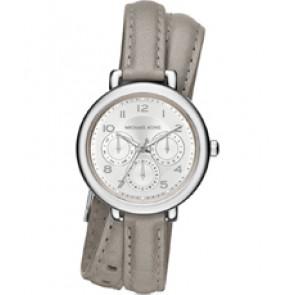 Horlogeband Michael Kors MK2403 Onderliggend Leder Grijs 12mm