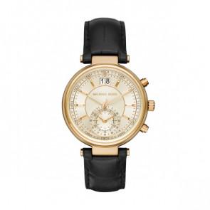 Horlogeband Michael Kors MK2433 Leder Zwart