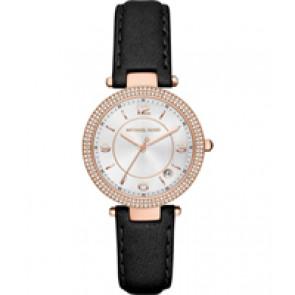 Horlogeband Michael Kors MK2462 Leder Zwart 16mm