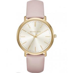 Horlogeband Michael Kors MK2471 Leder Roze 20mm