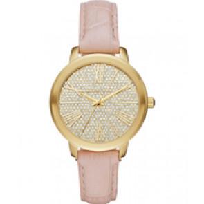 Horlogeband Michael Kors MK2480 Leder Roze 16mm