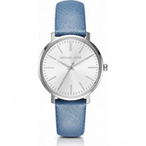 Horlogeband Michael Kors MK2495 Leder Blauw 18mm