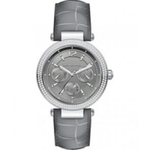 Horlogeband Michael Kors MK2544 Leder Grijs 21mm