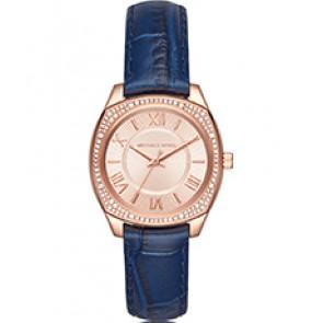 Horlogeband Michael Kors MK2593 Leder Blauw 16mm