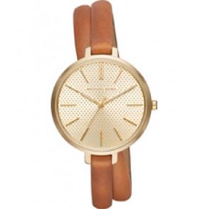 Horlogeband Michael Kors MK2603 Onderliggend Leder Bruin 8mm