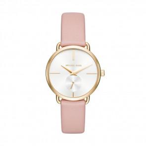 Horlogeband Michael Kors MK2659 Leder Roze 16mm