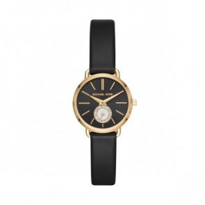 Horlogeband Michael Kors MK2750 Leder Zwart