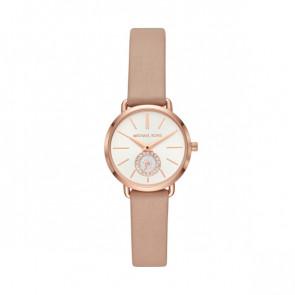 Horlogeband Michael Kors MK2752 Leder Beige