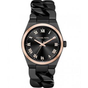 Horlogeband Michael Kors MK3415 Staal Zwart 24mm