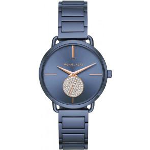 Horlogeband Michael Kors MK3680 Staal Blauw 16mm
