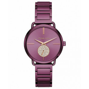 Horlogeband Michael Kors MK3765 Staal Paars 16mm