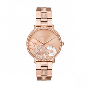 Horlogeband Michael Kors MK3865 Staal Rosé 18mm
