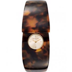 Horlogeband (Band + Kastcombinatie) Michael Kors MK4313 Onderliggend Kunststof/Plastic Bruin