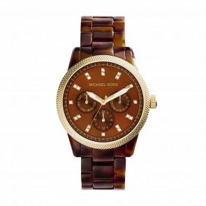 Horlogeband Michael Kors MK5038 Kunststof/Plastic Bruin