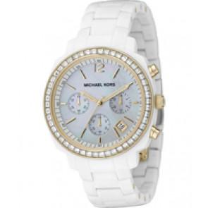 Horlogeband Michael Kors MK5187 Kunststof/Plastic Wit 17mm