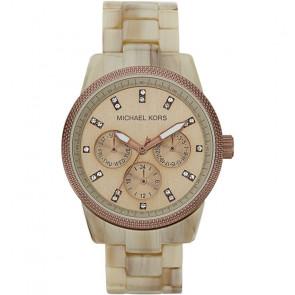 Horlogeband Michael Kors MK5641 Kunststof/Plastic Crèmewit