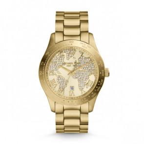 Horlogeband Michael Kors MK5959 Roestvrij staal (RVS) Doublé