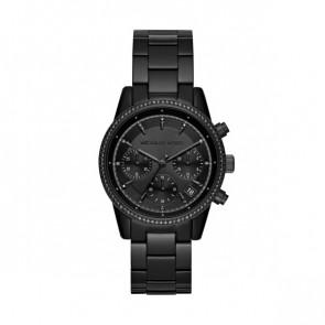 Horlogeband Michael Kors MK6438 Staal Zwart 18mm