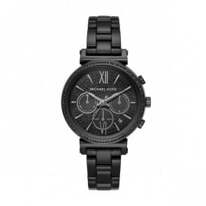 Horlogeband Michael Kors MK6632 Staal Zwart 16mm