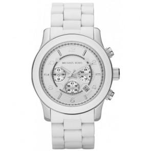 Michael Kors horlogeband MK8108 Rubber Wit