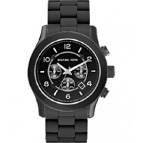Horlogeband Michael Kors MK8119 Silicoon Zwart 24mm