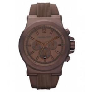 Horlogeband Michael Kors MK8216 Silicoon Bruin 22mm