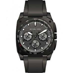 Horlogeband Michael Kors MK8390 Silicoon Zwart 26mm