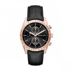 Horlogeband Michael Kors MK8440 Leder Zwart