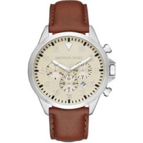 Horlogeband Michael Kors MK8441 Leder Bruin 22mm