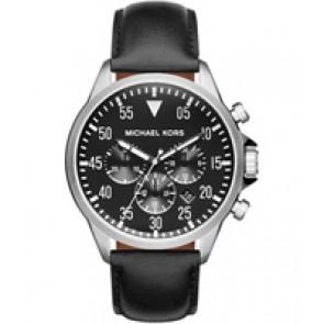 Horlogeband Michael Kors MK8442 Leder Zwart 22mm