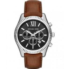 Horlogeband Michael Kors MK8456 Leder Bruin 22mm