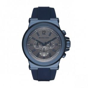 Horlogeband Michael Kors MK8493 Rubber Blauw