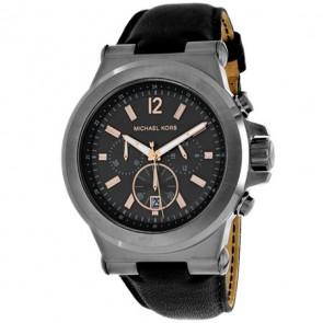 Horlogeband Michael Kors MK8511 Leder Zwart 13mm