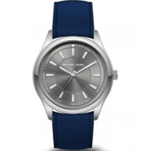 Horlogeband Michael Kors MK8525 Leder Blauw 22mm