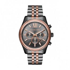Horlogeband Michael Kors MK8561 Staal Antracietgrijs 22mm