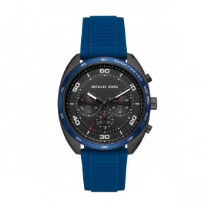 Horlogeband Michael Kors MK8612 Silicoon Blauw 22mm
